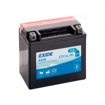 Batería Exide ETX14L-BS 12V 12AH