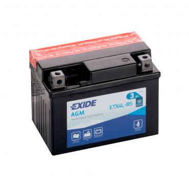 Batería Exide ETX4L-BS / YTX4L-BS 12V 3AH