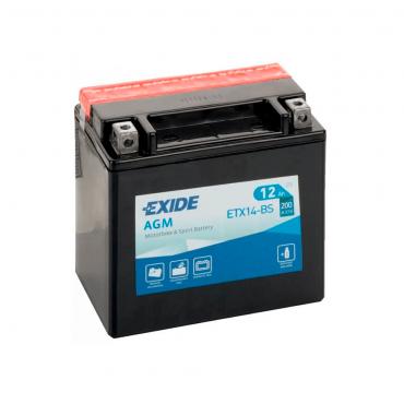 Batería Exide ETX14-BS 12V 12AH