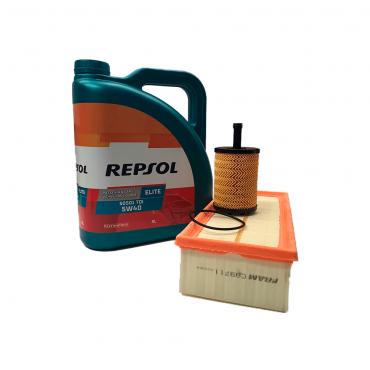 Pack Repsol Elite TDI 5w40 50501 + Filtro Aceite y Aire (Volkswagen/Seat TDI)