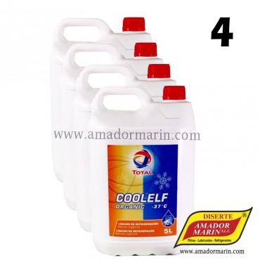 Total Coolelf Auto Supra Refrigerante Anticongelante 4x5l